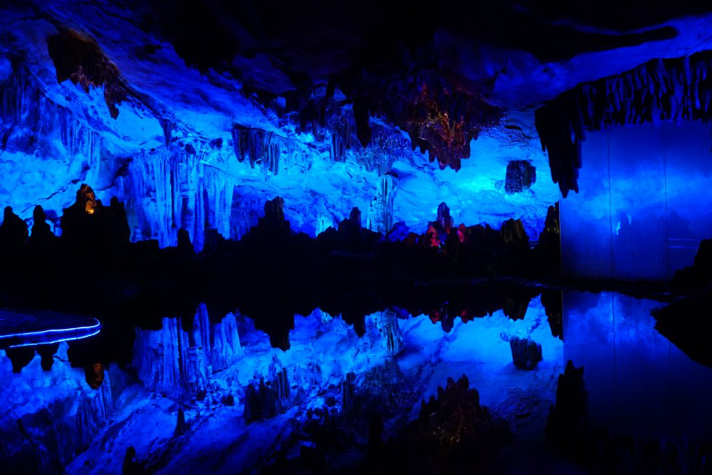 Reed Flute Cave / Jaskinie w Chinach